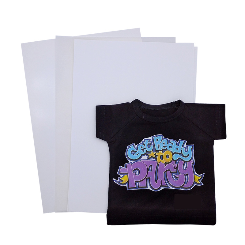 Wholesale a4 size light dark 100 cotton t-shirt inkjet heat press transfer paper