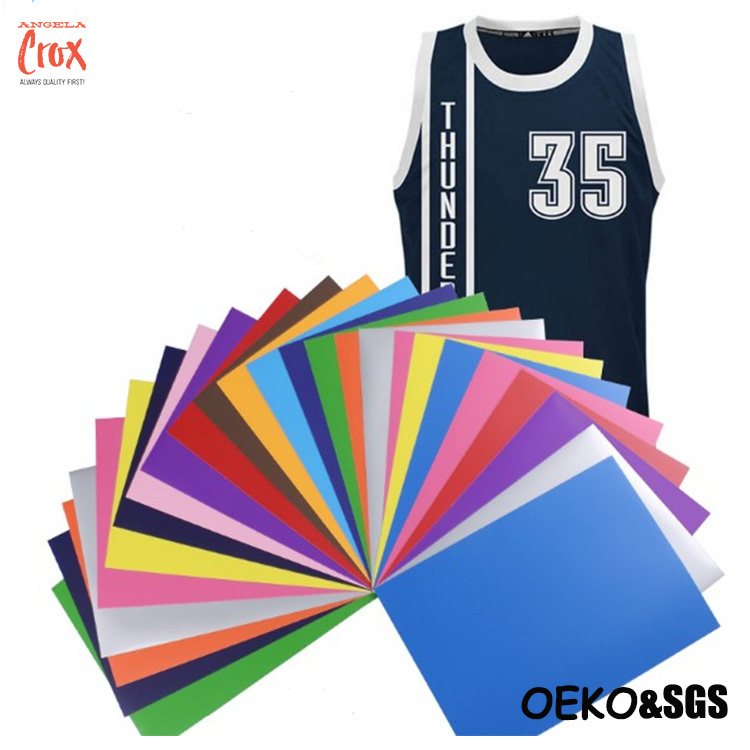 Wholesale custom Heat Transfer Vinyl sheets choose colors for clothing