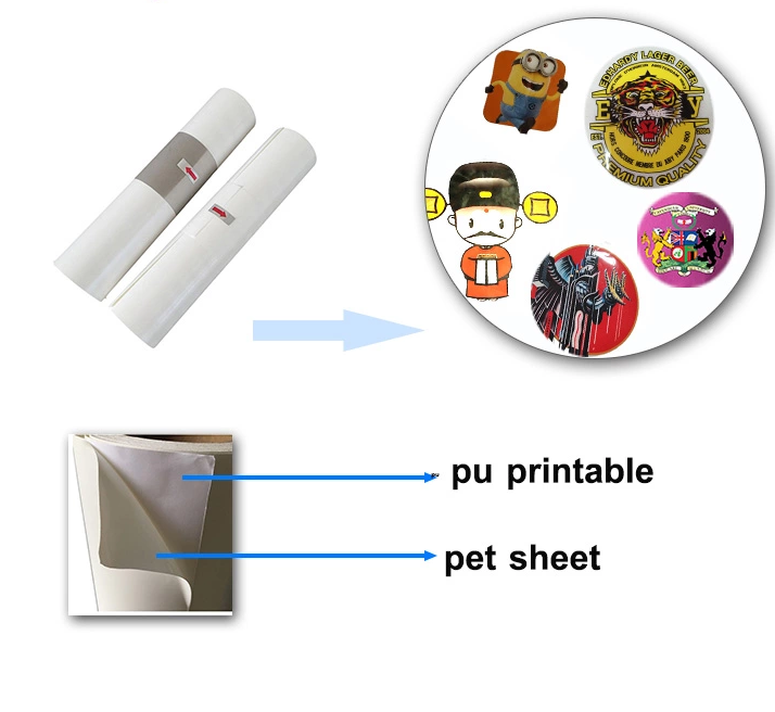 Korea Hot sale transfer film/PU matte heat transfer eco solvent printable heat transfer vinyl