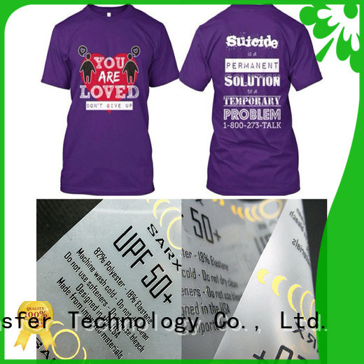angelacrox silicone thermal transfer labels wholesale for t shirt