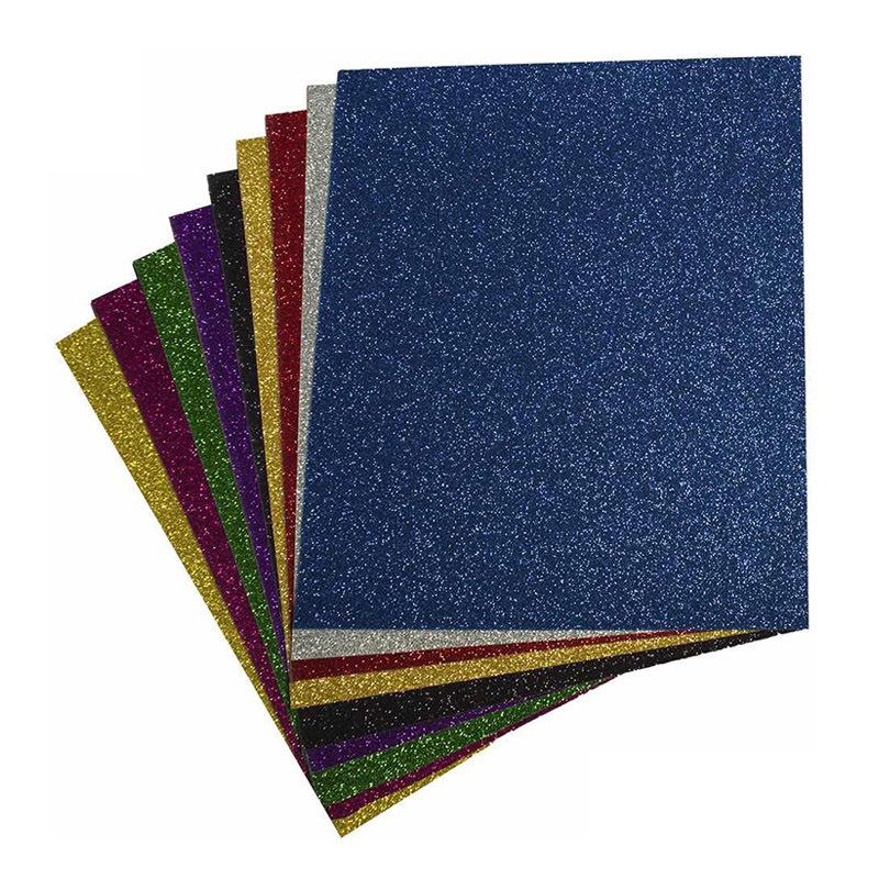Glitter heat transfer vinyl sheets