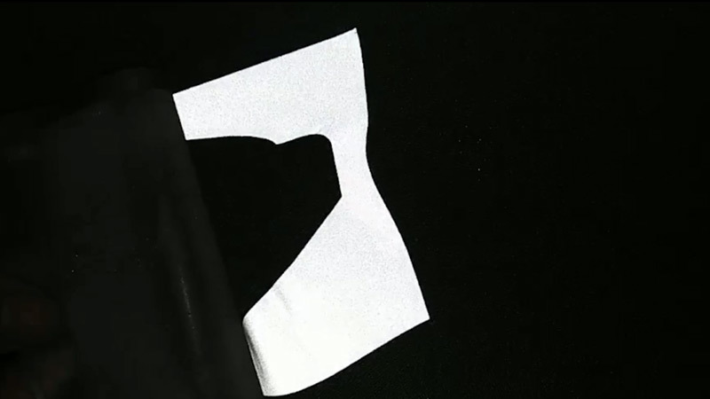 Reflective lettering film